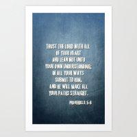 PROVERBS 3:5-6 Art Print