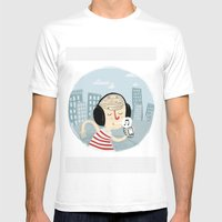 Chillin' Mens Fitted Tee White SMALL