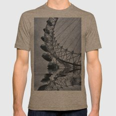 Water Wheel Mens Fitted Tee Tri-Coffee SMALL