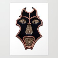 Euro Mask Art Print
