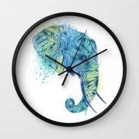 Elephant Head II Wall Clock