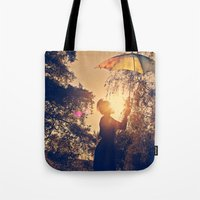 sunshine umbrella Tote Bag