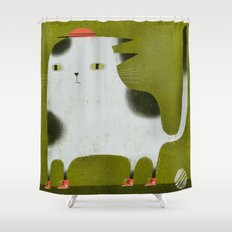 MAD CAT WITH HIGH TOPS Shower Curtain