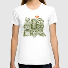 Wisdom to the Nines Womens Fitted Tee White SMALL