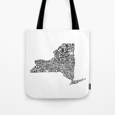 Typographic New York Tote Bag