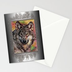 Portrait of a Gray Wolf Stationery Cards