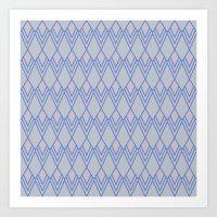 Art Deco Diamond Teardro… Art Print