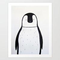 No. 0011 - Modern Kids and Nursery Art - The Penguin Art Print