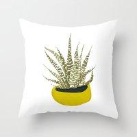 Zebra Cactus Throw Pillow
