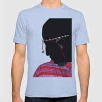 Maasai Man Mens Fitted Tee Athletic Blue SMALL