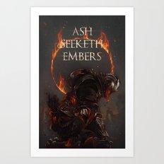 Ash Seeketh Embers Art Print