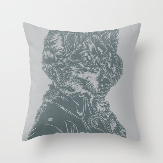 Wolf Amadeus Mozart Throw Pillow