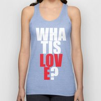 What Is Love? (white) Unisex Tank Top