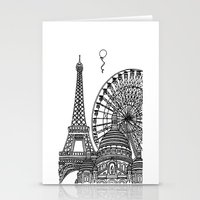 Paris Silhouettes Stationery Cards