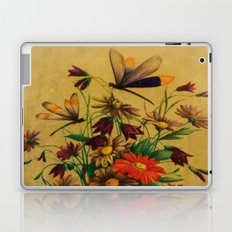 Stained Glass Dragonflies & Flowers Laptop & iPad Skin