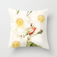 III. Vintage Flowers Bot… Throw Pillow