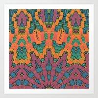 Sunset Mandala No. 1 Art Print