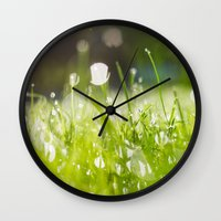 Grassy Morning Wall Clock