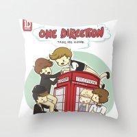 Take Me Home Cartoon One Direction Throw Pillow