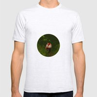 FOX IN A COOL GREEN WORLD Mens Fitted Tee Ash Grey SMALL