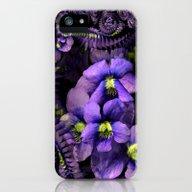 Ground Violet Fractal iPhone (5, 5s) Slim Case
