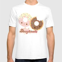 Sweet Doughnuts Mens Fitted Tee White SMALL