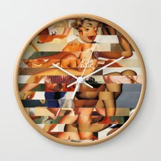 Glitch Pin-Up Redux: Natalie Wall Clock