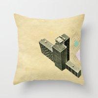 The Modern World Throw Pillow