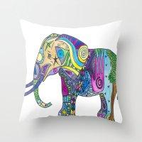 Elephant Profile Throw Pillow