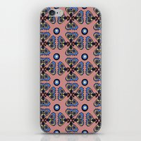 Butterflies And Dots iPhone & iPod Skin