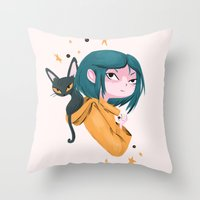 Twitchy, Witchy Girl Throw Pillow