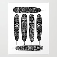 Six Feathers Art Print