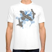 Mixed Gulls Mens Fitted Tee White SMALL