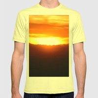 Glow Mens Fitted Tee Lemon SMALL