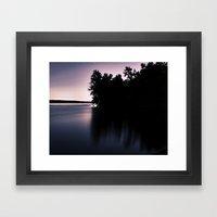 mauve Framed Art Print