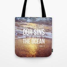 Micah 7:19 Tote Bag