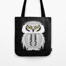 Geometric Snowy Owl Tote Bag