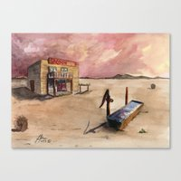The Lone Saloon Canvas Print