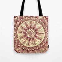 mandala: maroon Tote Bag