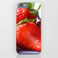 iPhone & iPod Case featuring Strawberry by Nicole Mason-Rawle
