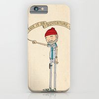 """adventure iPhone & iPod Cases featuring """"THIS IS AN ADVENTURE."""" - Zissou by Derek Eads"""