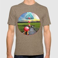 Interspatial Field Mens Fitted Tee Tri-Coffee SMALL