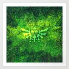 Legend Of Zelda Triforce Art Print