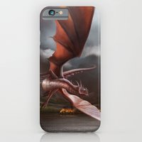 iPhone & iPod Case featuring Smaug Burns Lake-Town by Andy Fairhurst Art