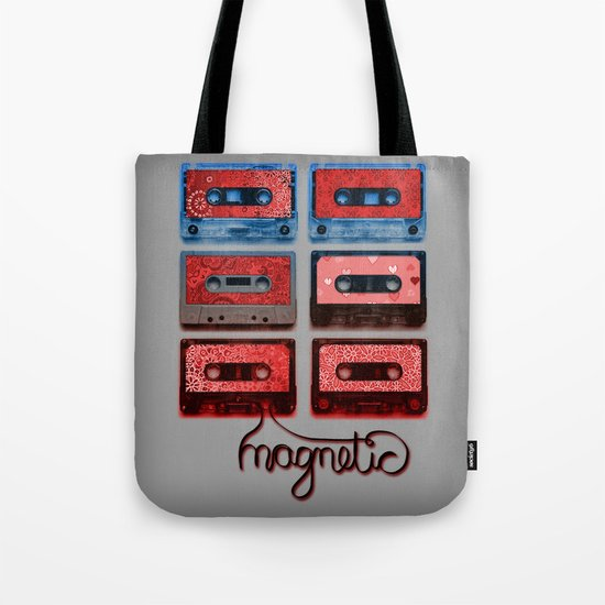 Magnetic - funky patterned mix tapes Tote Bag