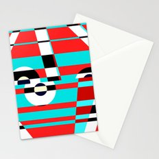 Grid Square TV Crazy Stationery Cards