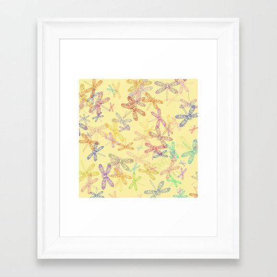 Dragonfly Dragonfly oh, Dragonflies Everywhere! Framed Art Print