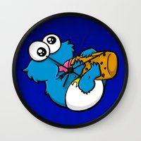 Wall Clock featuring Cookie Juice by BinaryGod.com