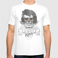 Elvis Presley | The King… Mens Fitted Tee White SMALL