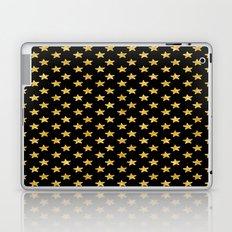 Chic Glam Gold and Black Stars Laptop & iPad Skin